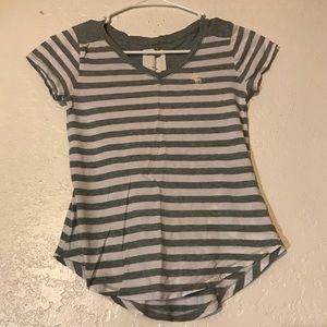 Size S Girls Abercrombie Kids Striped Tee